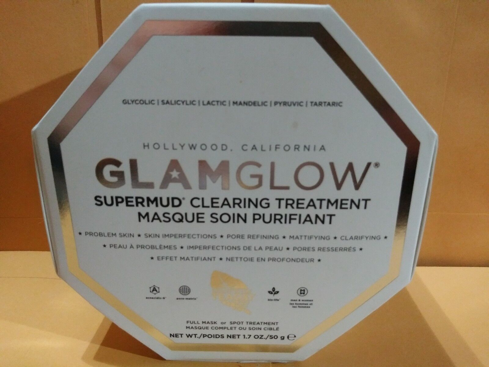 *** GLAMGLOW Supermud  Clearing Treatment Masque 1.7 oz NEW