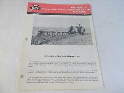 Massey Ferguson Mf 88 Semi Mounted Moldboard Plow Product Information Manual