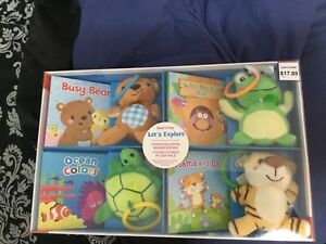 Baby board books and hanging toys