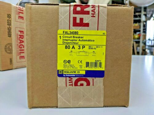 Square D FAL34080 3 Pole 80 Amp 480V Circuit Breaker