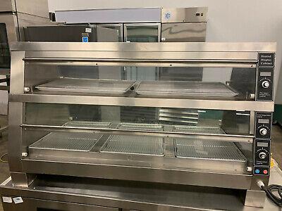 2 Tier Stainless Steel Countertop Hot Food Display Cabinet