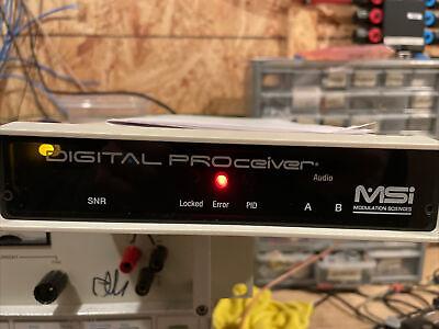 Modulation Sciences Digital Proceiver Digital Tv Analyzer With Manual