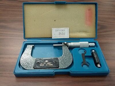 2-3 Precision Outside Micrometer 0.0001 Carbide Tipped Standard 408-23-new
