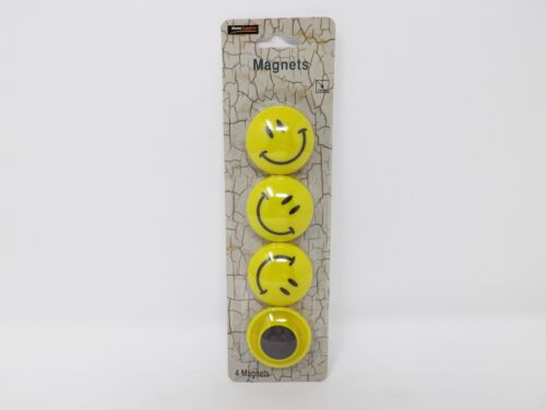 Home Supplies 4 pc Smiley Face Magnets -- New