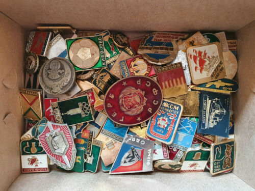 Set 50 Pcs of LOT COLLECTION RUSSIAN SOVIET BADGE PIN USSR Russia