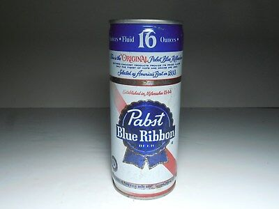Vintage Pabst Blue Ribbon steel pull tab tall boy beer can for sale  Newport