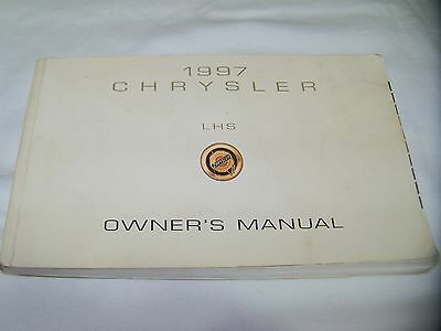 1997 CHRYSLER LHS OWNER'S MANUAL. FREE S/H