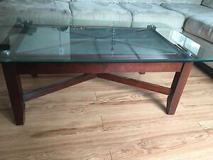 Glass coffee and side table