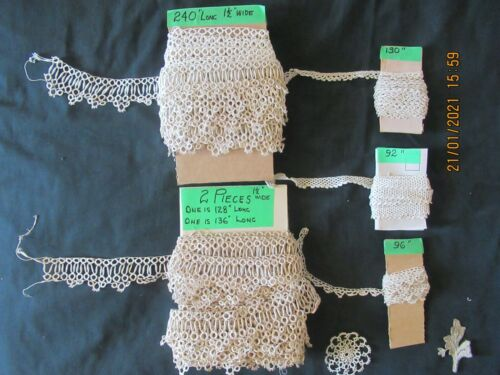 Antique Vintage Tatting Crochet Lace Handmade Yards and Yards