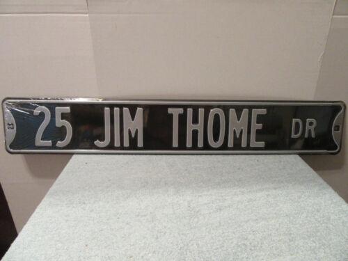 "Jim Thome Chicago White Sox street sign 18 gauge metal 3 ft x 6"" Cleveland HOF"