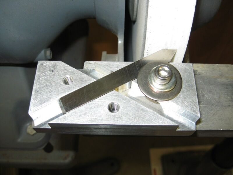"Lathe Tool Bit Grinding Jig, 60 Degree Grinding Jig for 3/8"" Thread Cutting Bits"