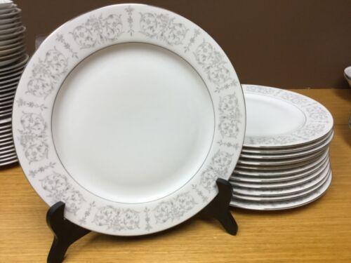 """12 Vintage Linden Fine China Japan TM-1004 Versailles 10 1/4"""" Dinner Plates"""