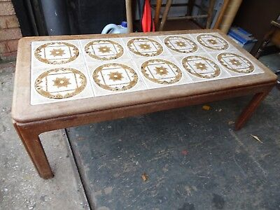 Retro G Plan Large Tiled Coffee Table