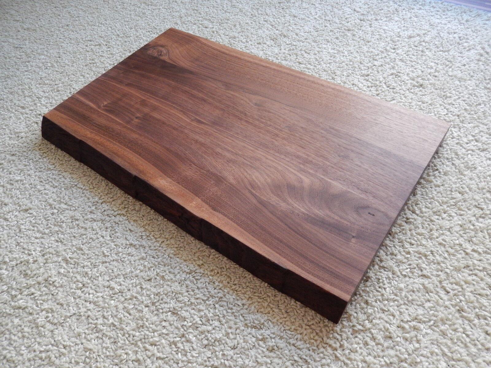 tischplatte platte nussbaum massiv holz mit baumkante neu tisch brett leimholz eur 245 00. Black Bedroom Furniture Sets. Home Design Ideas