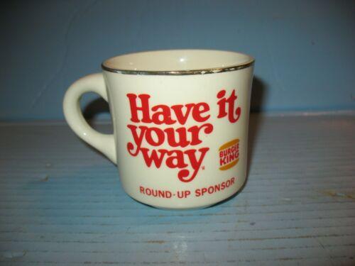 Vtg Scouting Mug With Burger King Advertising
