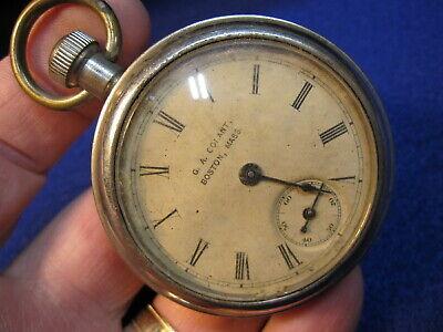 55mm Ingersoll back wind and set dollar watch pocket watch G A Conant Boston