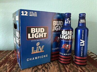 Bud Light Tampa Bay Buccaneers 2021 SUPERBOWL LV Champion 2 EMPTY Bottles & BOX