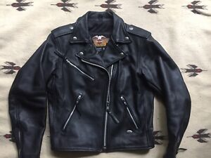 10a173d44b1 Black Harley Davidson Motorcycle Leather Jacket (Small)