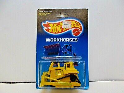 Hot Wheels Bulldozer Workhorses Series #1172  1986 Yellow 1:64 1988 Card
