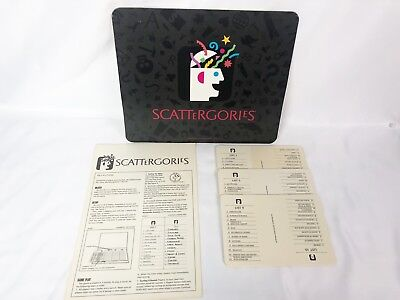 Scattergories 1988 16 Replacement Category Cards with Manual and Mat , used for sale  USA