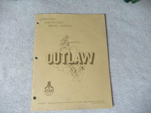 OUTLAW  ATARI    arcade game manual