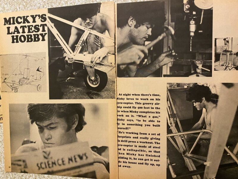 Micky Dolenz, The Monkees, Two Page Vintage Clipping