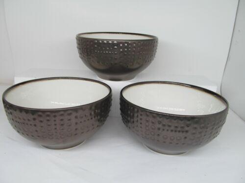 MIKASA METROPOLITAN Gourmet Basics China Stoneware Soup Cereal Bowls (Set of 3)