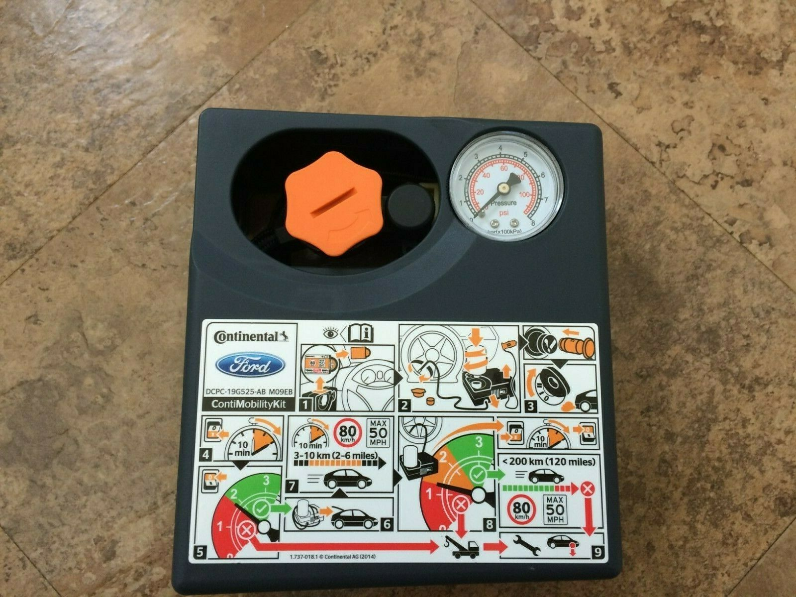 Car Parts - GENUINE CONTINENTAL FORD VOLVO TYRE PUNCTURE REPAIR PUMP COMPRESSOR INFLATOR