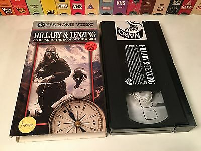 * Hillary & Tenzing: Climbing To The Roof Of The World VHS 1997 Documentary PBS