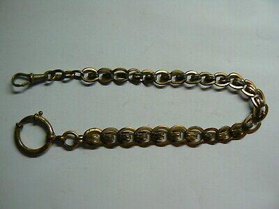 Beautiful Victorian Vintage Rose Gold Tone Albert Pocket Watch Chain