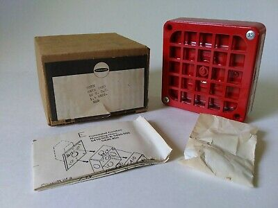 New Vintage Faraday 5420 Red Fire Alarm Horn 12vdc 1.5amp
