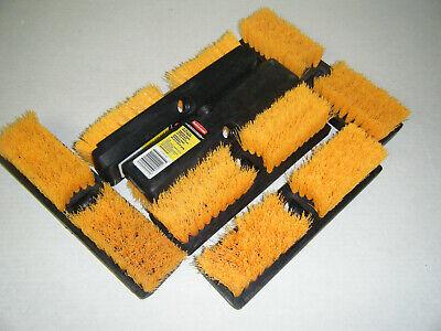 Lot of 6 Rubbermaid Deck Scrub Brush X134 10 inch 1 1/8 bristles Professional Bristle Deck Brush
