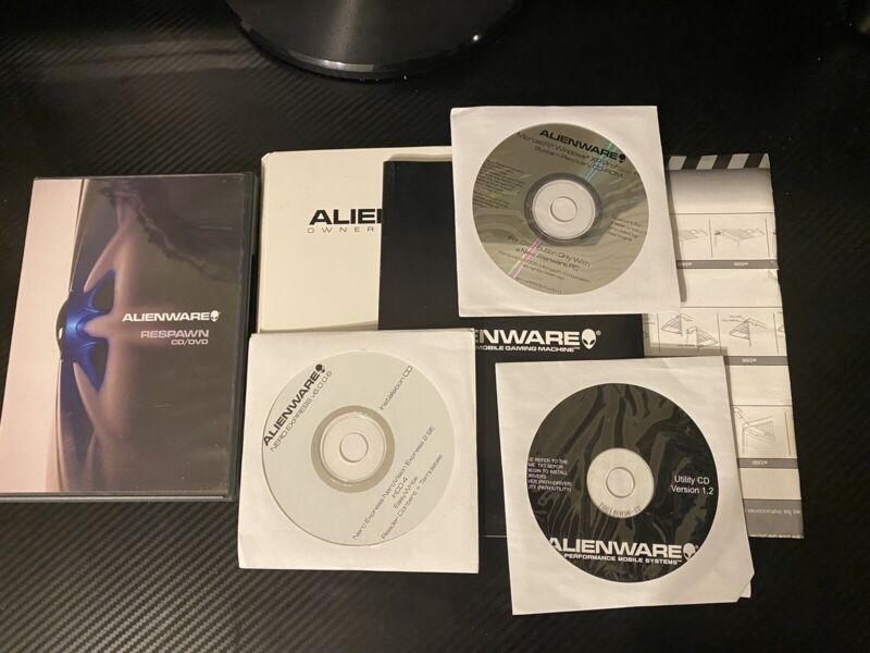 Alienware Software Lot Respawn CD/DVD ~ RARE! Computer Disc Manuals Paperwork