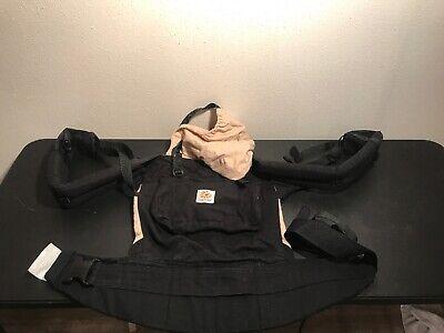 D6 Ergo Baby Carrier Original Black Camel Tan Hands Free Ergo Baby Camel