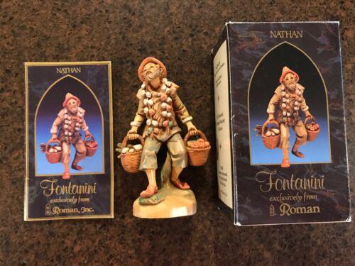 "RETIRED 1987 Fontanini Nathan the Produce Peddler, 5"" Nativity Figure/Box #52598"