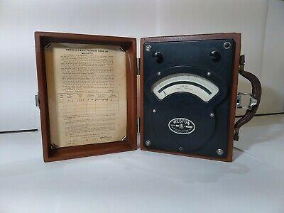 Vintage Antique Weston Model 341 Ac Dc Volt Meter 1961 Acdc Rare Test Equipment