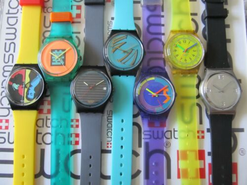 Swatch Standard Gents 34mm Works New Generic Replacement Band #Frankenswatch 80s