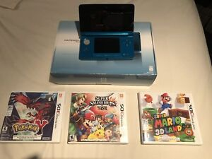 3ds 3 games and charger