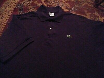 LACOSTE Men's Polo Style 100% Cotton Size 8 BLACK SS Shirt