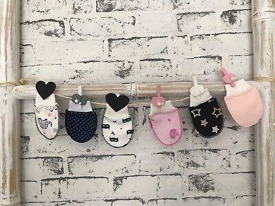 3 Paket Fäustlinge Kratzfäustinge Babyfäustlige Baby Unisex Handschuhe Fäustel Baby-fäustlinge