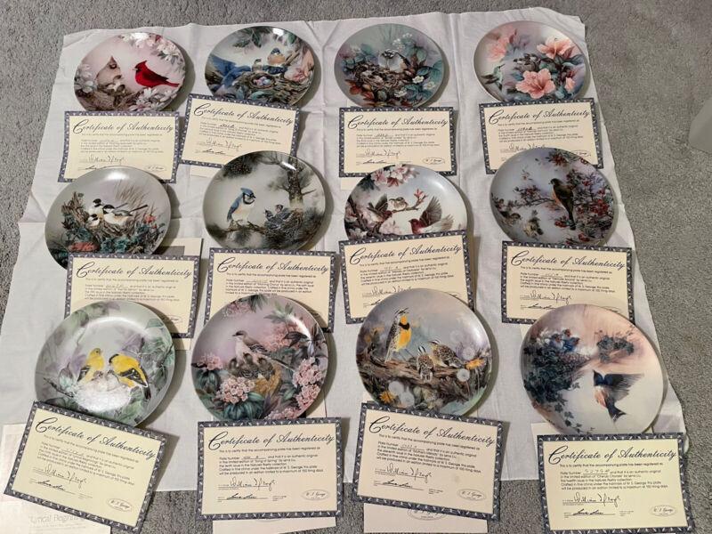 "12 Collector Plates Bradford exchange ""Nature's Poetry"" Series"