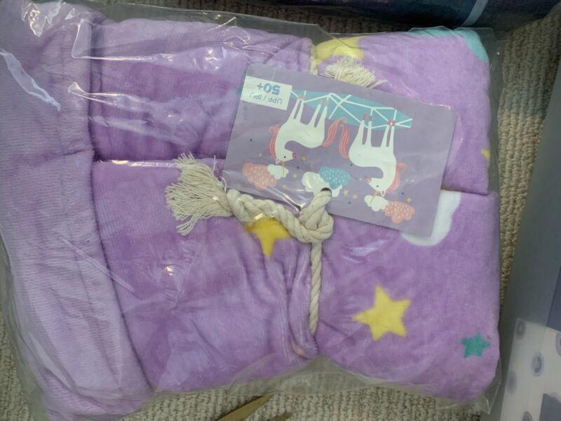 Pottery Barn Kids Unicorn Beach Towel No Mono Pink NEW