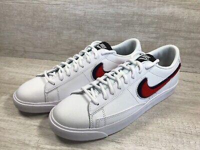 Men's Nike Blazer Low 3D White Blue Red. Chenille Swoosh. AV6964-100. Size 8.5