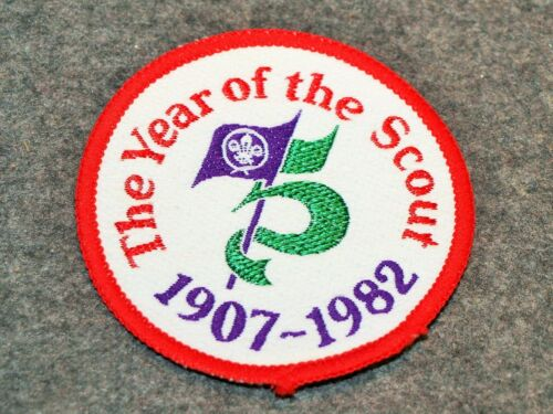 INTERNATIONAL SCOUT POCKET PATCH…THE YEAR OF THE SCOUT…1907 - 1982...MINT
