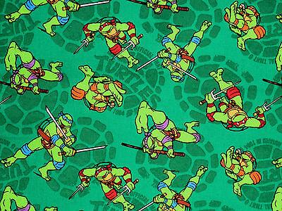 Ninja Turtle Crafts (HEROS HALF SHELL FABRIC  TEENAGE MUTANT NINJA TURTLE  TMNJ  100% COTTON )