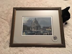 Pair of Beautiful Framed Europe Prints Italy and Switzerland(?)