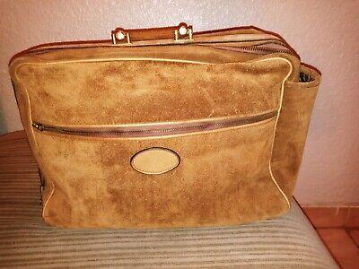 Vintage Gucci Suede Leather Suitcase