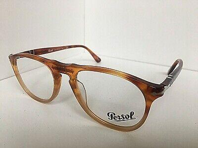 New Persol 9649-V 1025 Amber Resina e Sale 50mm  Eyeglasses Frame Italy (Persol Glasses Sale)