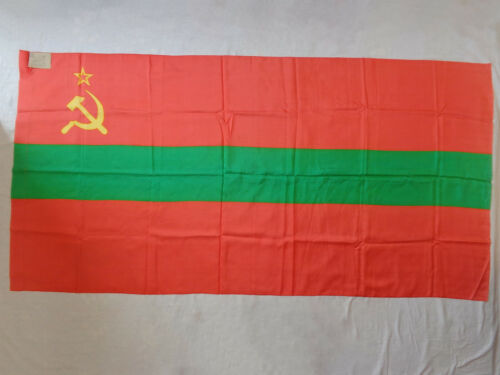 Vtg Flag of the Moldavian Soviet Socialist Republic 1987 Moldova Moldavia USSR