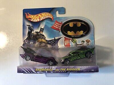 Hot Wheels 1:64 Batmobile vs. The Riddler 2 Car Set New NIP